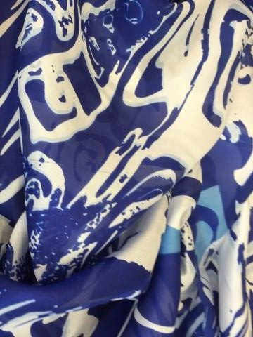 printed silk chiffon wraps for sale at Roisin Cross Silks Dublin product name Bijou Blue