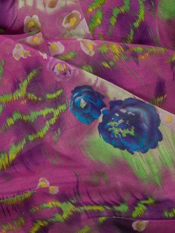 printed silk chiffon wraps product name Anemone