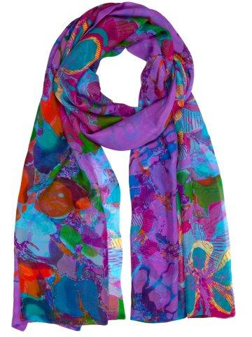 printed silk chiffon wraps product name Opulence Sold Out