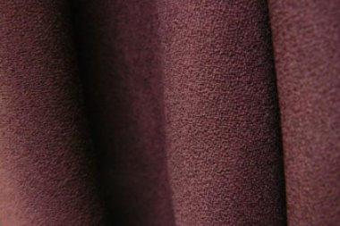 aubergine wool crepe double weight fabric