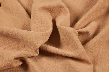 biscuit wool crepe double weight fabric