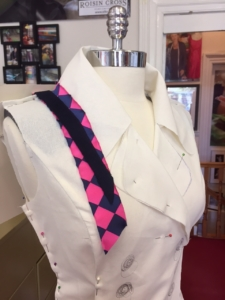 dress design consultation service available at Roisin Cross Silks Dublin