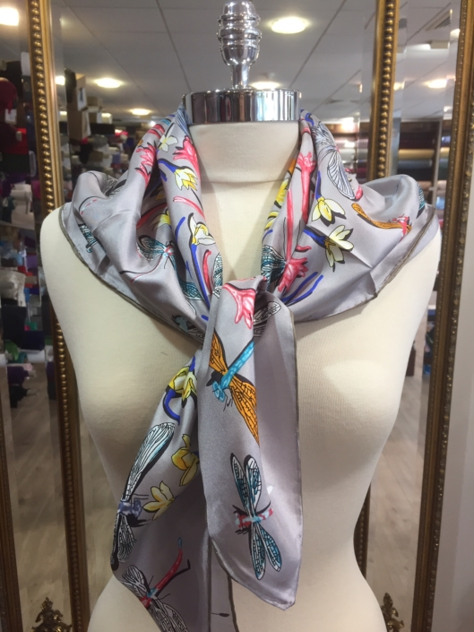 standard square printed scarves