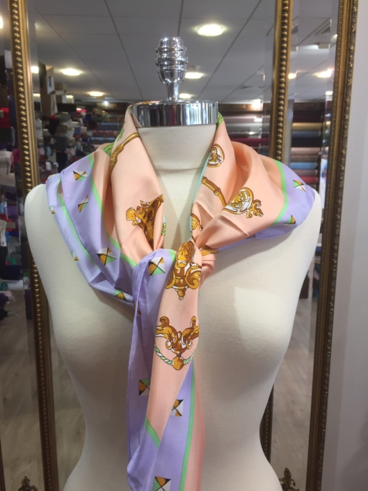 ladies standard square silk scarf product code SS024