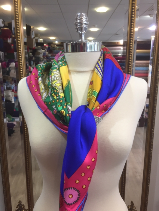 ladies standard square silk scarf product code SS025