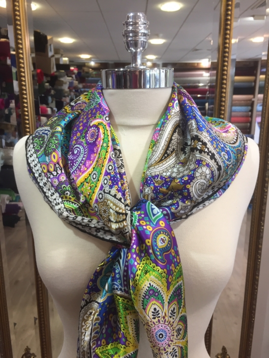 ladies standard square silk scarf product code SS027