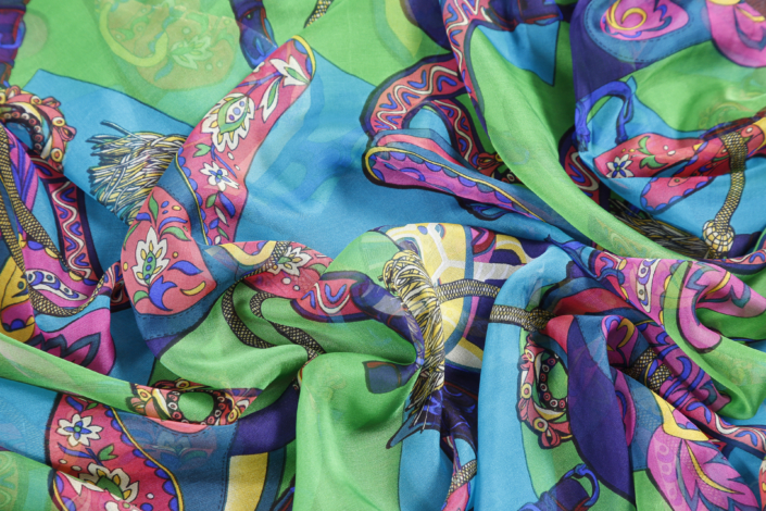 Buy printed jap chiffon silk fabrics at Roisin Cross Silks Dublin