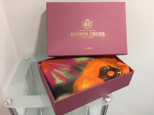 gift boxed printed ladies silk chiffon wraps