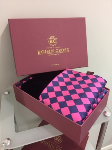 buy gift boxed handmade ladies silk scarves at Roisin Cross Silks Dublin
