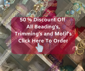 Click here to buy beadings trimmings and mofifd online at Roisin Cross Silks