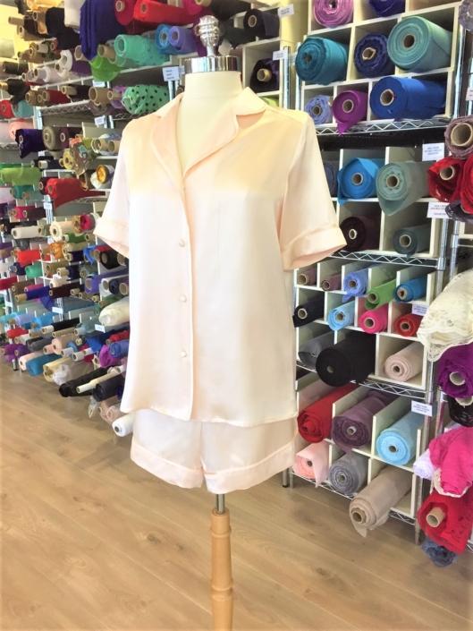 Roisin Cross Silks Dublin night attire special offers ladies silk pyjamas shorts set reduced