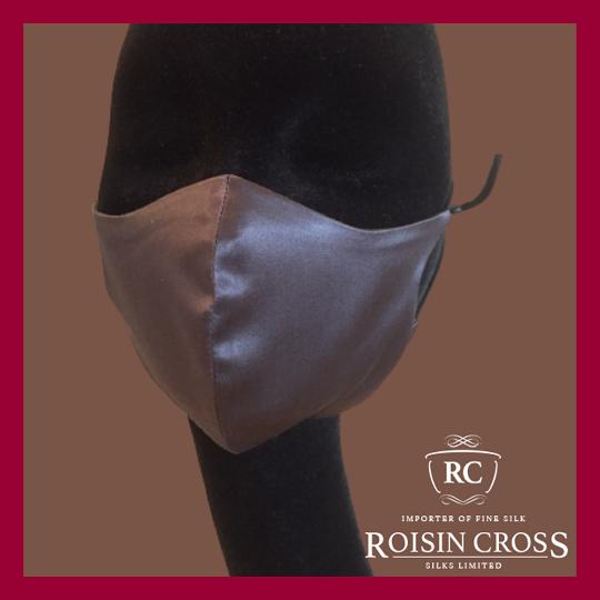 Roisin Cross Silks Dublin plain silk barrier masks product name Chateau