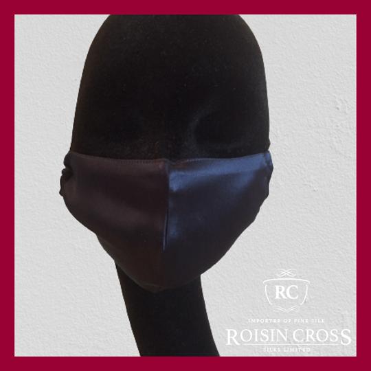 Roisin Cross Silks Dublin plain silk barrier masks product name Navy Ink