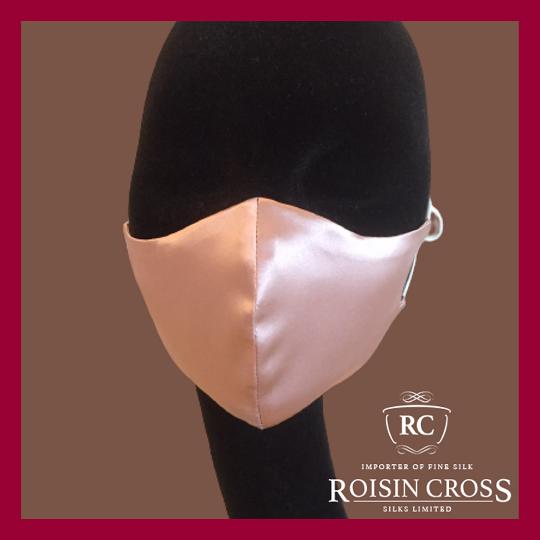 Roisin Cross Silks Dublin plain silk barrier masks product name Rose