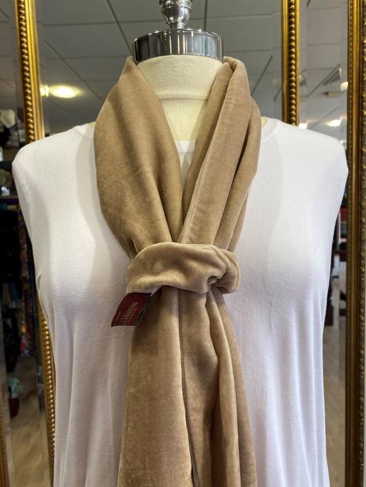 Mink silk velvet scarf and scrunchie