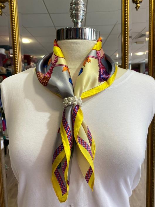 Roisin Cross Silks Dublin ladies silk neck scarf product code NT - 88
