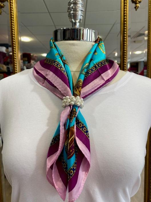 Roisin Cross Silks Dublin ladies silk neck scarf product code NT - 91