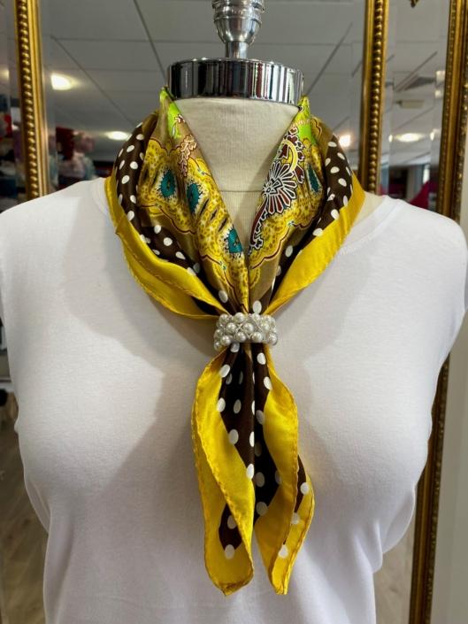 Roisin Cross Silks Dublin ladies silk neck scarf product code NT - 92
