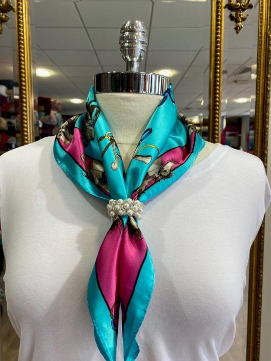 Roisin Cross Silks Dublin ladies silk neck scarf product code NT - 94
