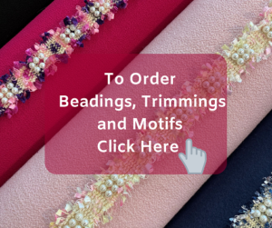 Online order form for beadings trimmings and motifs at Roisin Cross Silks Dublin
