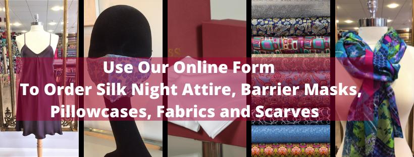 Roisin Cross Silks Dublin Online Order Form for fabrics, barrier masks, fabrics and material