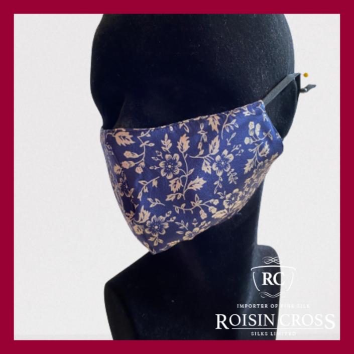 Roisin Cross Silks Dublin printed silk barrier masks product name Oyster Bay