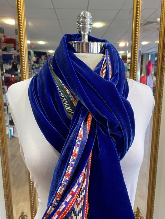 Roisin Cross Silks Dublin velvet and printed silk scarves product code SVP -30