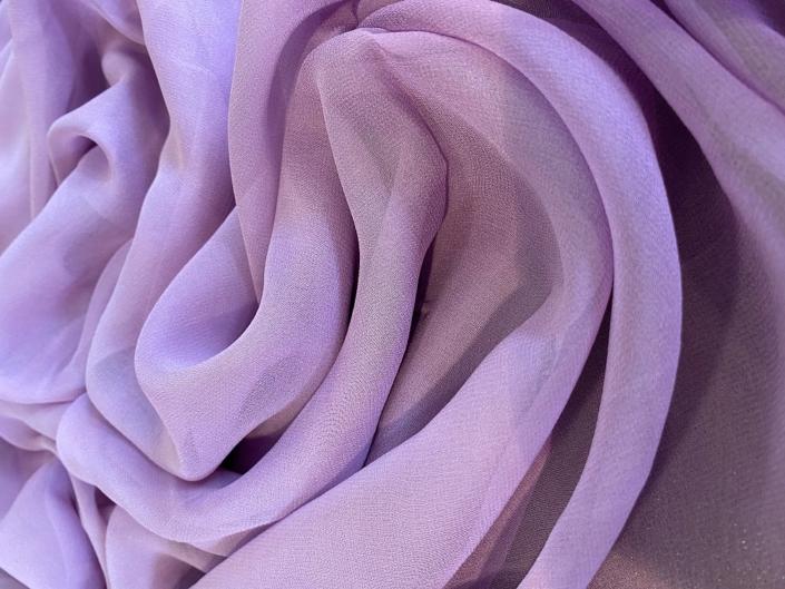 Lavender silk chiffon fabric for sale at Roisin Cross Silks Dublin