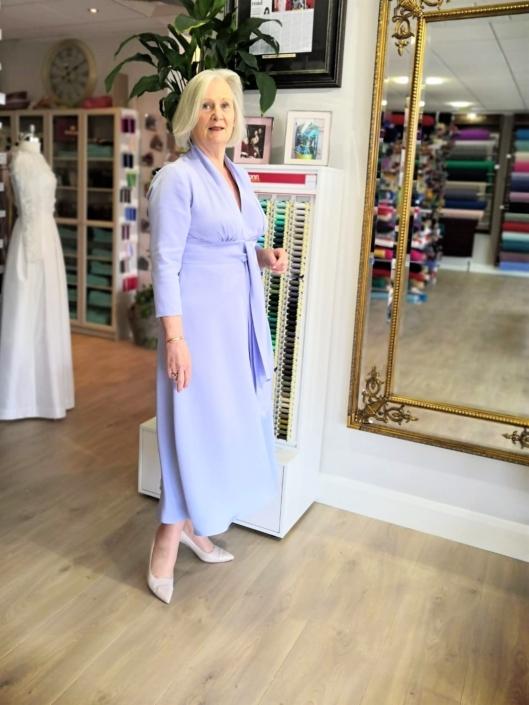 mother of the bride and groom dressmaking at Roisin Cross Silks Dublin