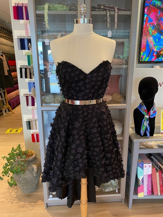 samples dress for sale roisin cross silks dublin Black Silk Evening Dress Size 10 €250