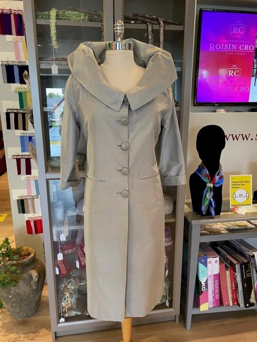 sample dresses for sale roisin cross silks dublin Dove Grey Silk Dupion Size 12 €150