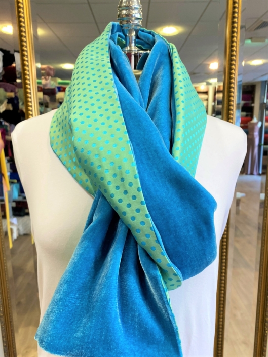 Roisin Cross Silks Dublin velvet and printed silk scarves product code SVP-31