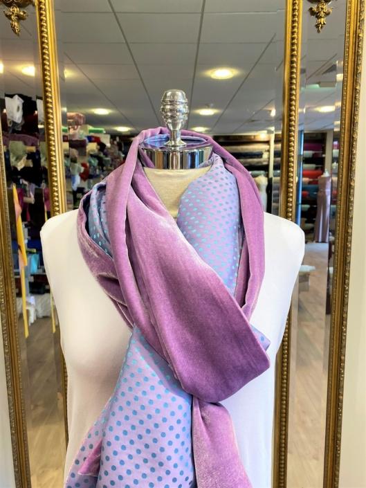 Roisin Cross Silks Dublin velvet and printed silk scarves product code SVP-32