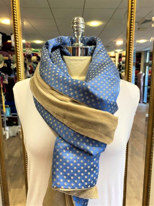 Roisin Cross Silks Dublin velvet and printed silk scarves product code SVP-33