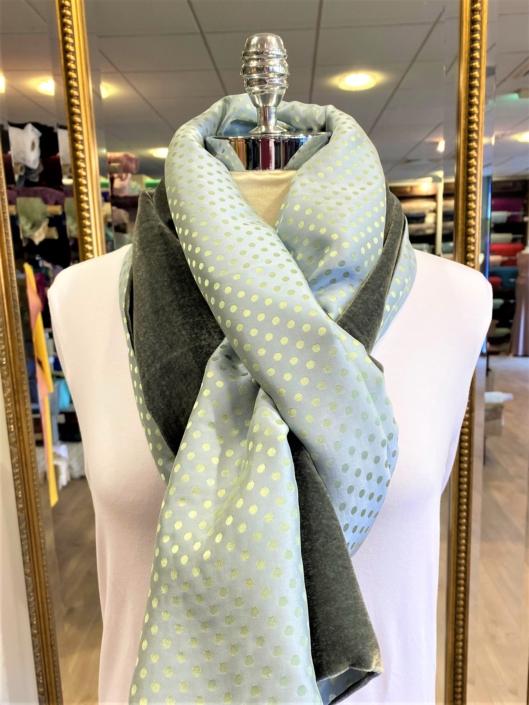 Roisin Cross Silks Dublin velvet and printed silk scarves product code SVP-34