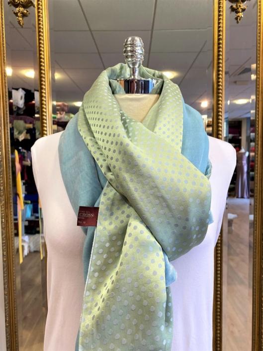 Roisin Cross Silks Dublin velvet and printed silk scarves product code SVP-35