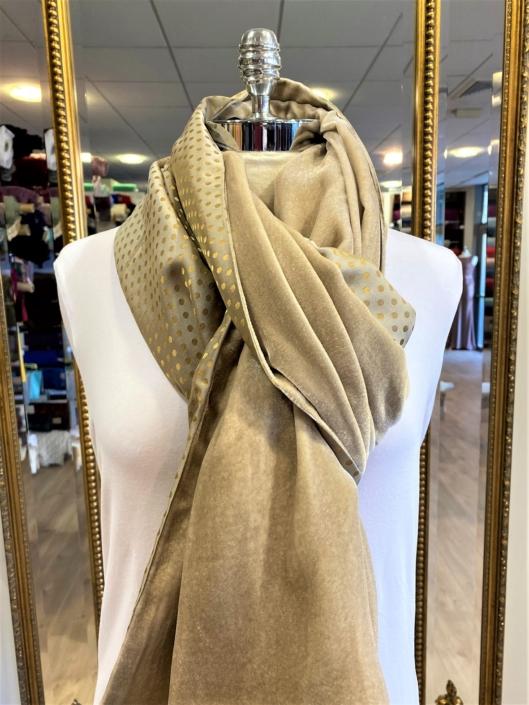 Roisin Cross Silks Dublin velvet and printed silk scarves product code SVP-36