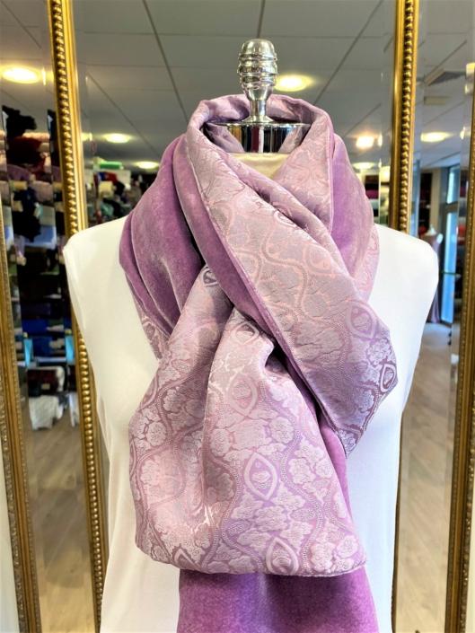 Roisin Cross Silks Dublin velvet and printed silk scarves product code SVP-38