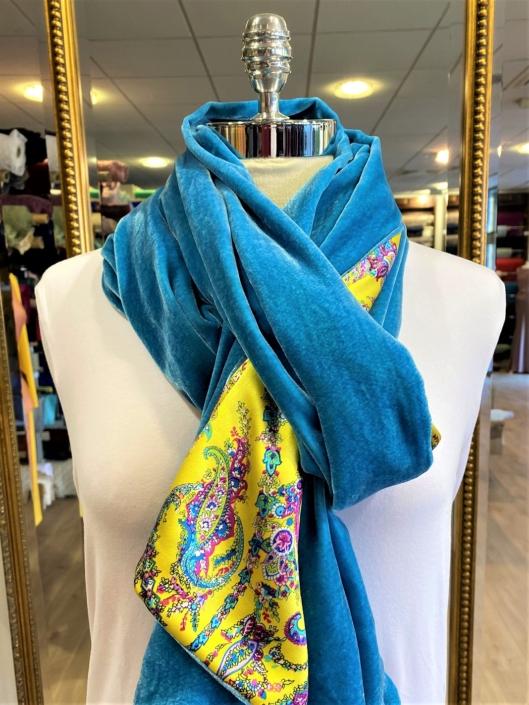 Roisin Cross Silks Dublin velvet and printed silk scarves product code SVP-40